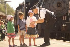 train and kids