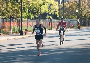 Dathan Ritzenhein - fifth place male and first American to cross finish line at 2013 Chicago Marathon